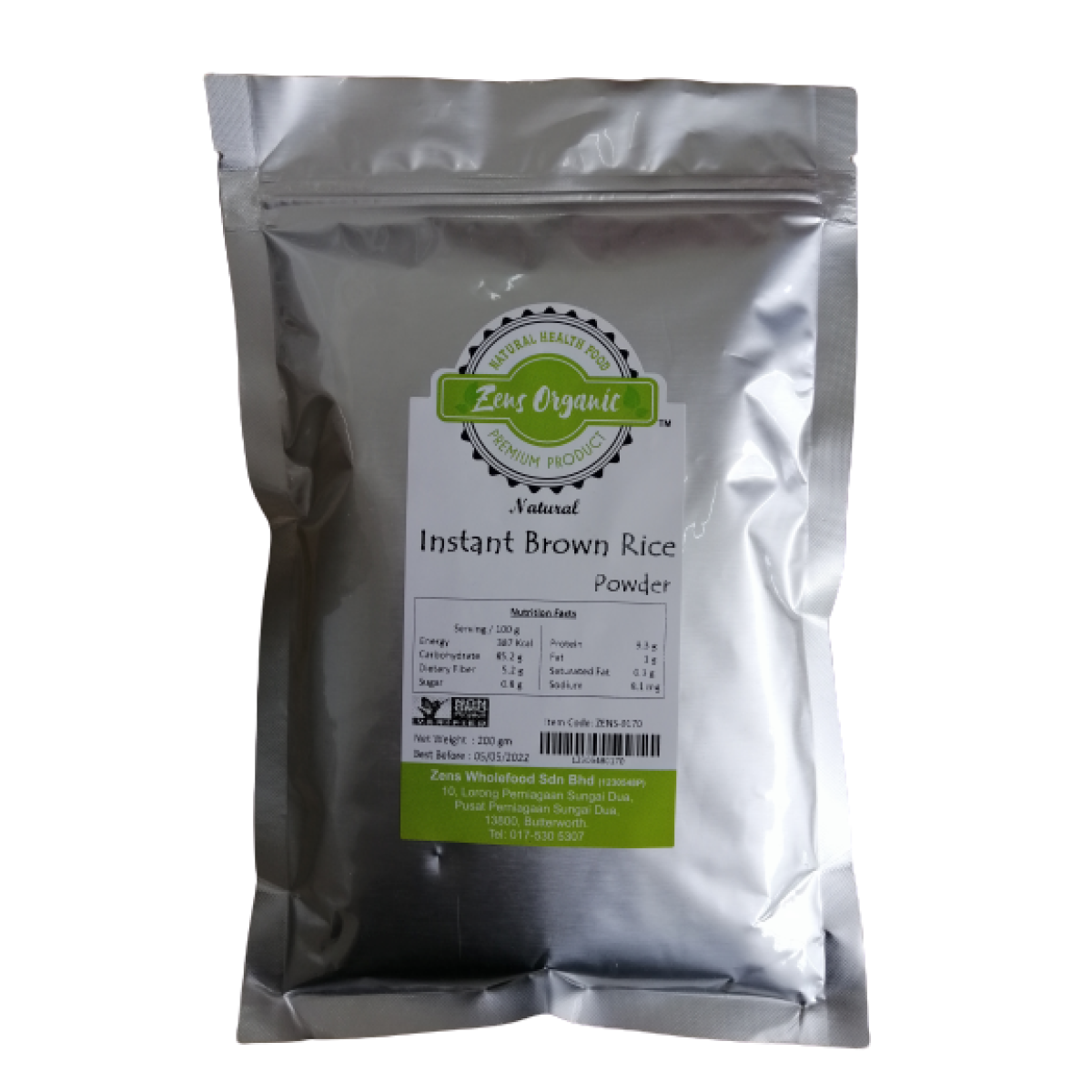 Zens Organic Natural Instant Brown Rice Powder 200g