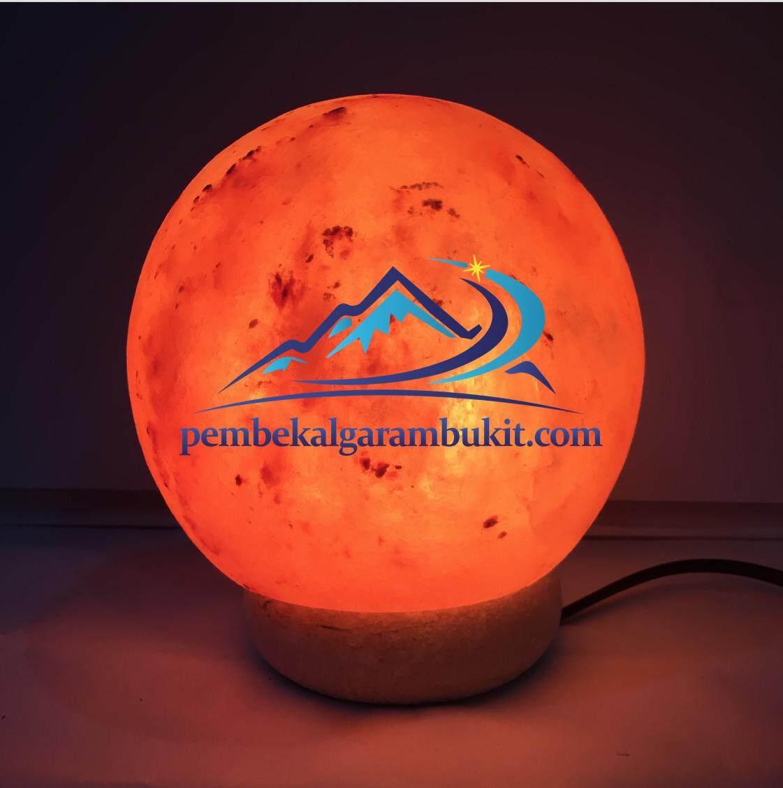 Lampu Garam Bukit Bentuk Bulat Himalayan Salt Lamp Crystal moon