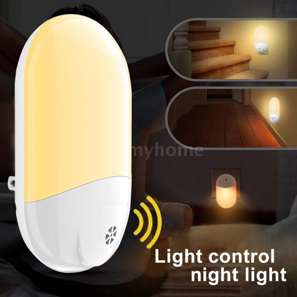 Lighting - Household Night Light for Kids Automatic ON/Off Dusk to Dawn Wall Lights for Bedroom Corridor - Home & Living