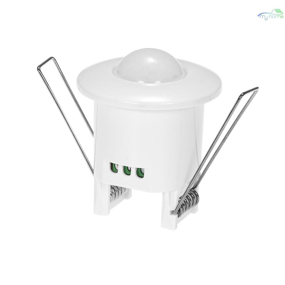 DIY Tools - MINI Infrared Motion Sensor Switch 360 Degree PIR Detection AC-240V Recessed Ceiling Occupancy - WHITE