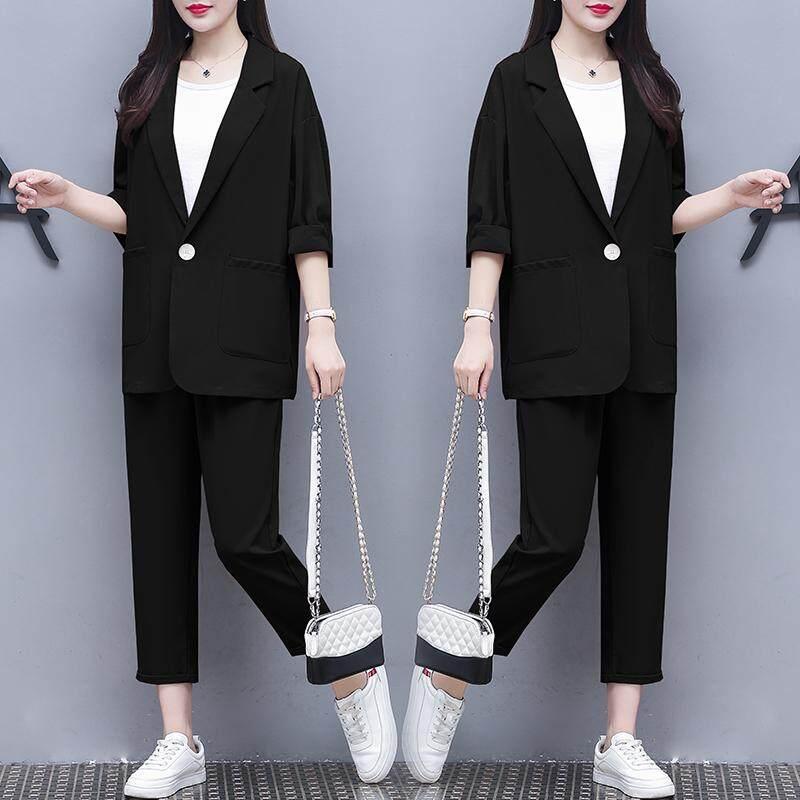 (Pre Order14 Days JYS Fashion Korean Style Women Blazer Suit Collection 525a-5963col525a-5963--Black -M
