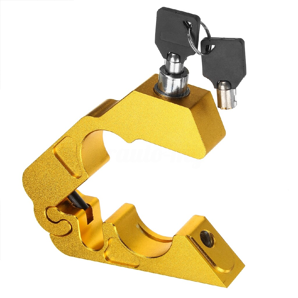 Moto Accessories - Universal Handlebar Grip Brake lever Security Lock Anti Theft For Motorcycle ATV - BLUE / GOLD / SILVER / GREY / PURPLE