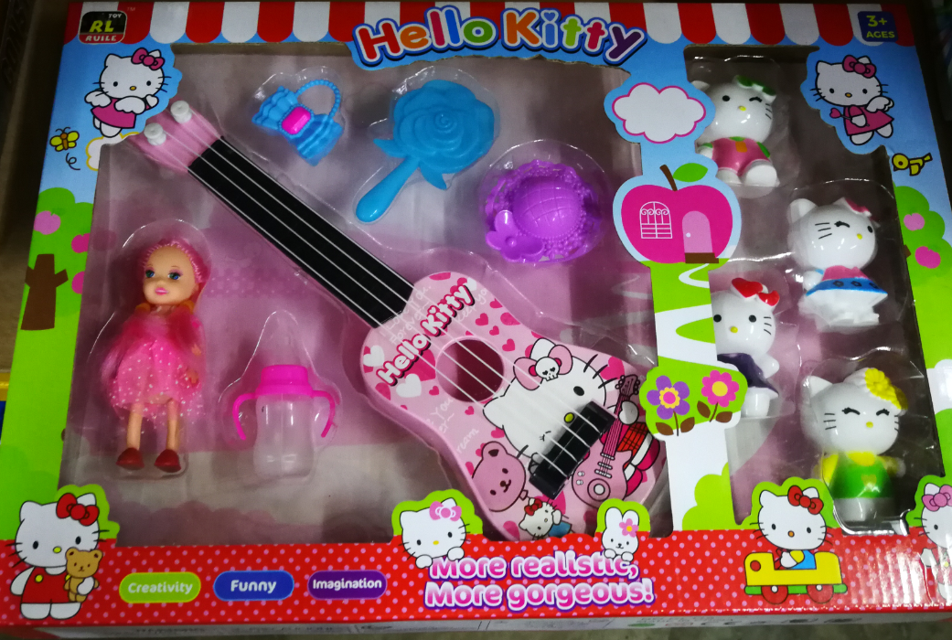 Hello Kitty Guitar Instruments Toys Set for girls