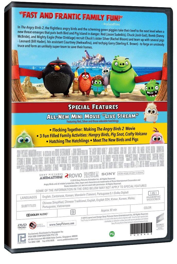 English Animated Movie The Angry Birds 2 The Movie DVD