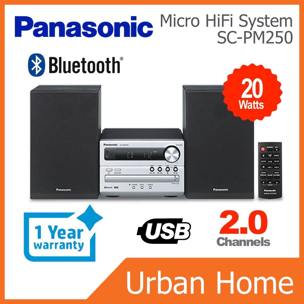 PANASONIC CD USB Micro Hi-Fi System (SC-PM250/SC-PM250GSXS/SCPM250)