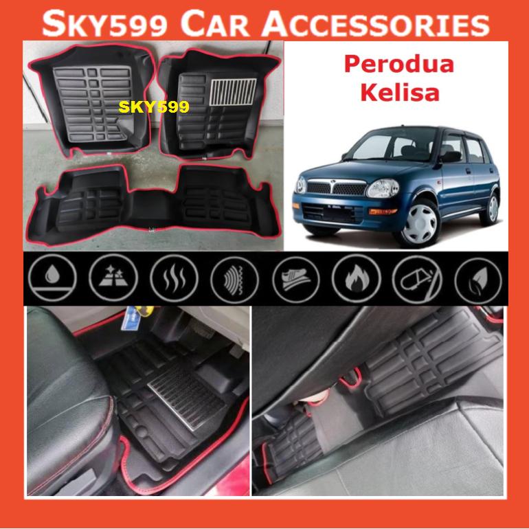 Perodua Kelisa 5D Car Floor Mat/Carpet