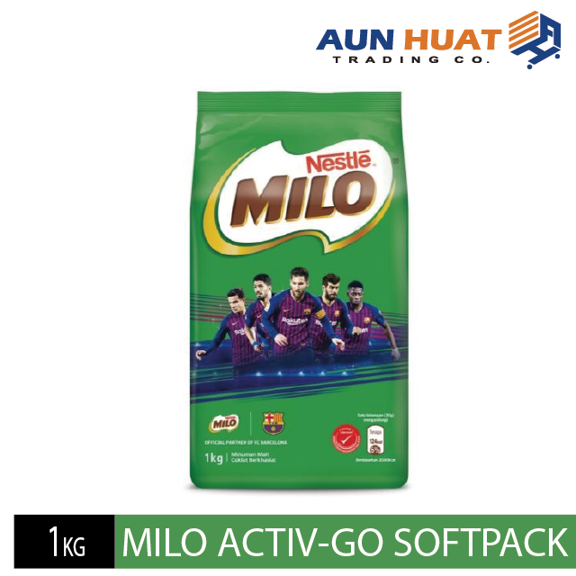 NESTLE MILO ACTIV-GO CHOCOLATE MALT POWDER Softpack 1kg