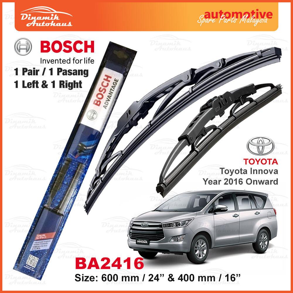Toyota Innova Car Year 2016 Onward Front Windshield Wiper Blade 24 Inch & 16 Inch - Bosch Advantage BA2416