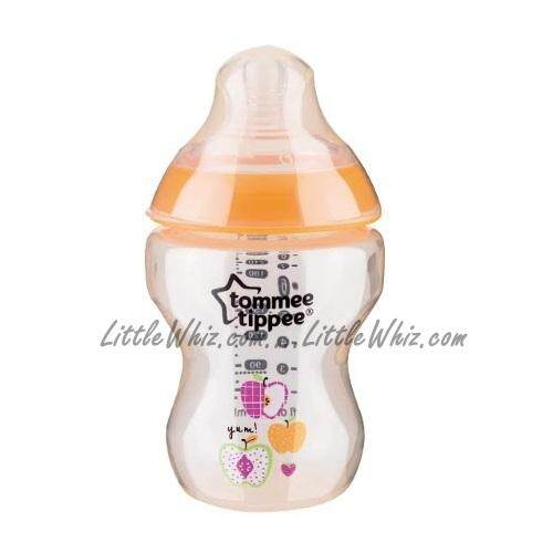 Tommee Tippee: Closer To Nature - PP Tinted Bottle 260ml/9oz - 1pk - Orange Apple