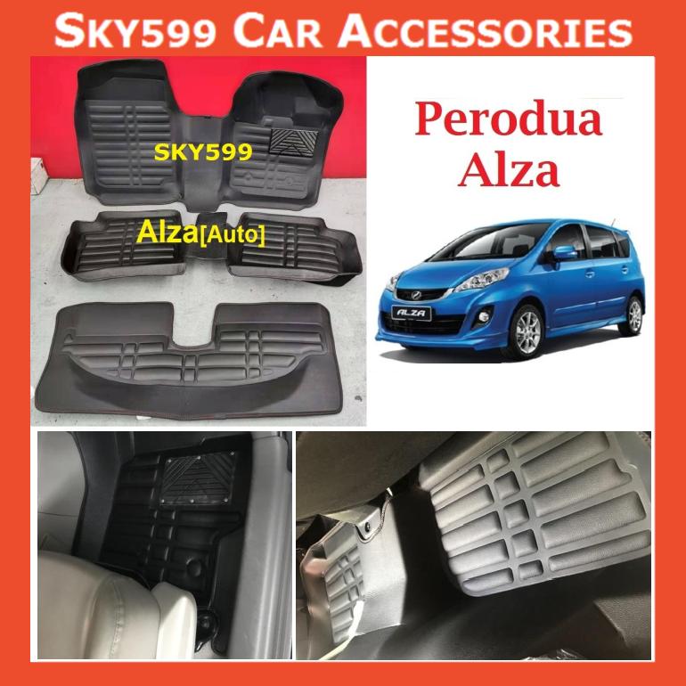 Perodua Alza 5D Car Floor Mat/Carpet?3row?