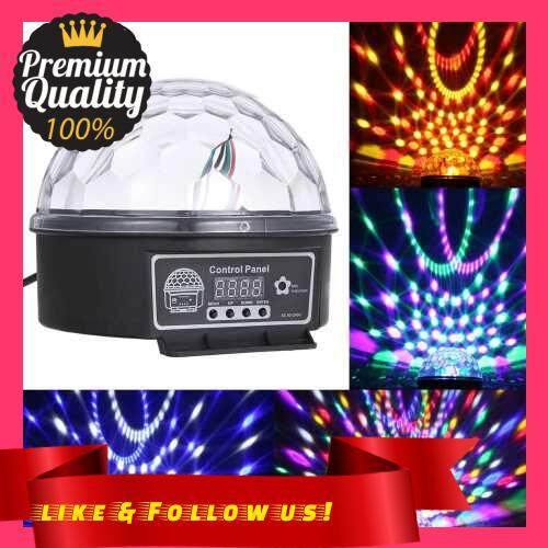People\'s Choice DMX512 LEDs Ball Stage Light with Remote Control 6 Channel Sound Activated Party Lights 6 Colors Stage Par Lighting for Disco DJ Club Dance Party (Eu)