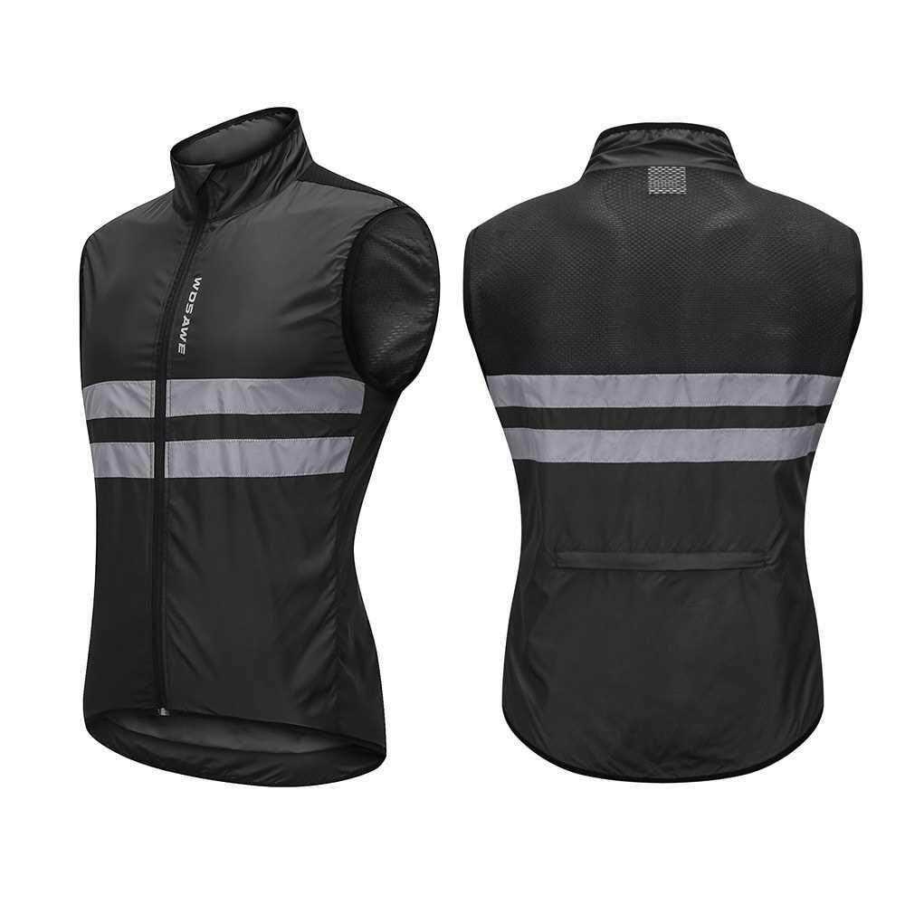 Wosawe Sleeveless Cycling Jersey Windproof Breathable MTB Bike Riding Top Sports Jacket for Men and Women