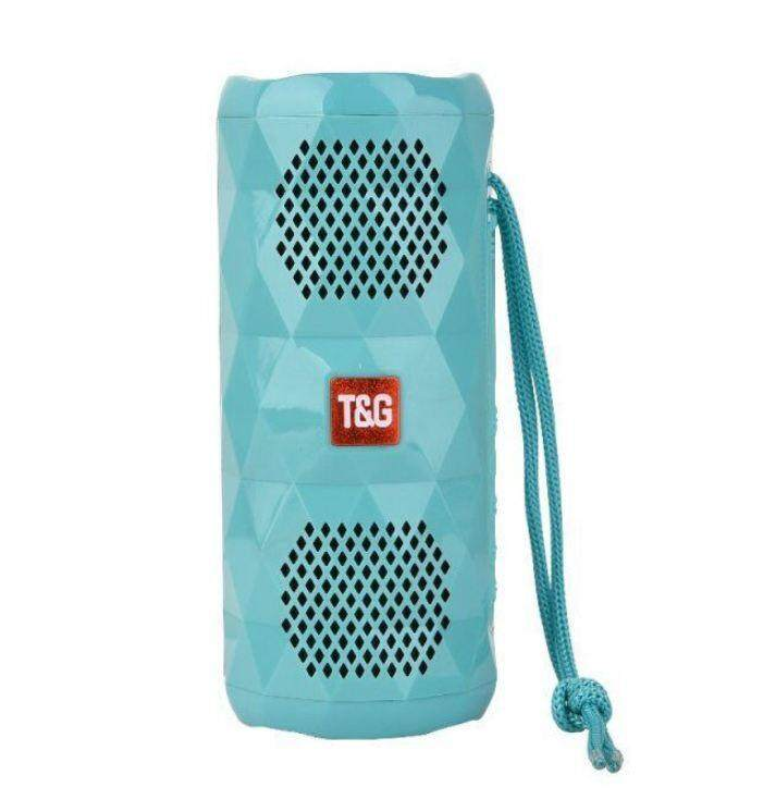TG-167 TG167 BLUETOOTH PORTABLE WIRELESS SPEAKER WITH LED FLASHIG LIGHT (Fresh Import) High Quality SKY BLUE