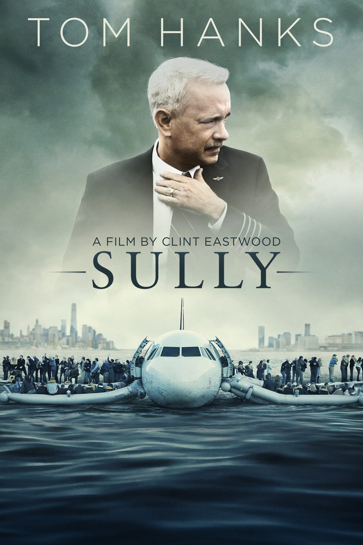 English Movie Sully : Miracle on the Hudson DVD 2016 Film by Clint Eastwood Tom Hanks