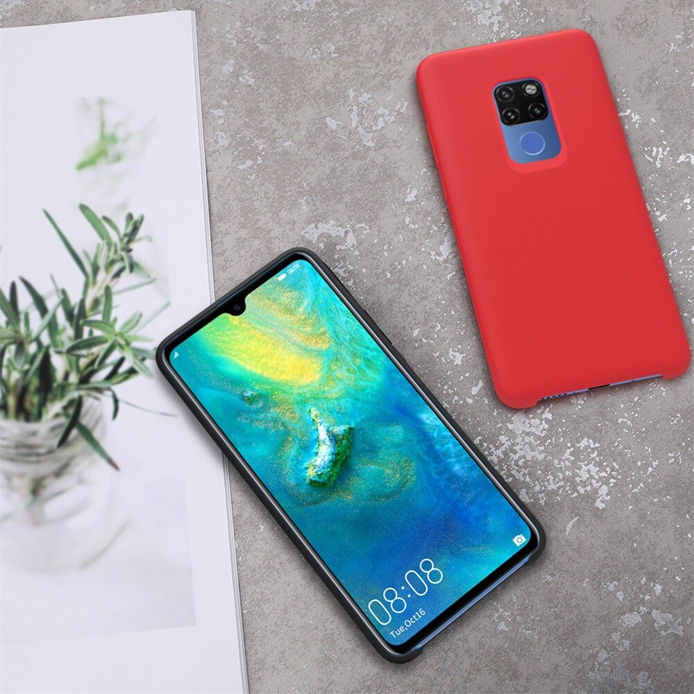 iPh Soft Cover - Smooth Soft Liquid Silicone Rubber Back Cover Protective Case - BLACK / BLUE / RED