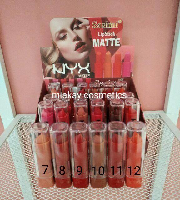 FREE GIFTSasimi Lipstick Matte Nyxx lipstick