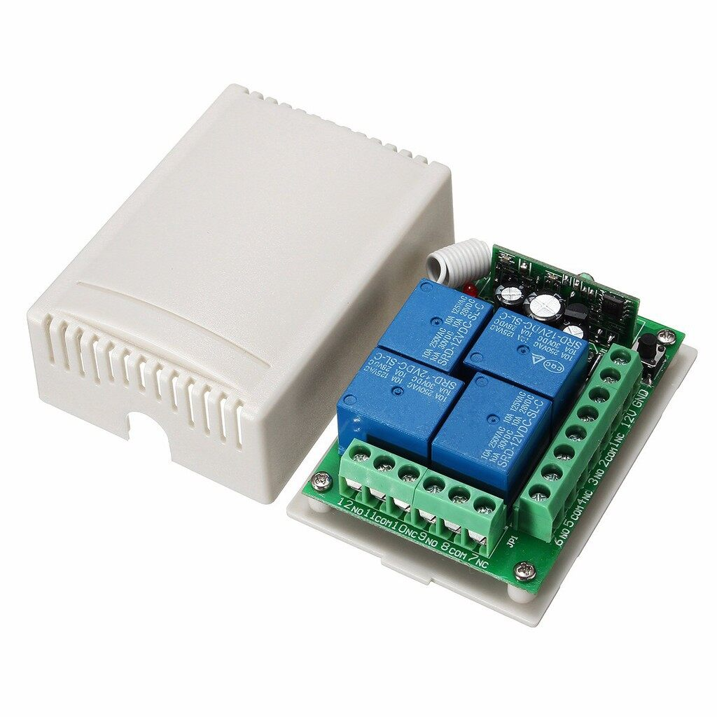 Car Electronics - Relay WIRELESS Remote Control Switch Receiver Board With Remote - Automotive