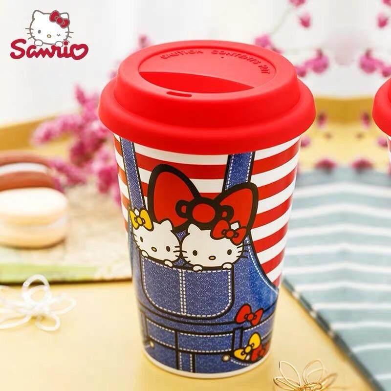 Hello Kitty Ceramic Mug  with Silicone  Lid