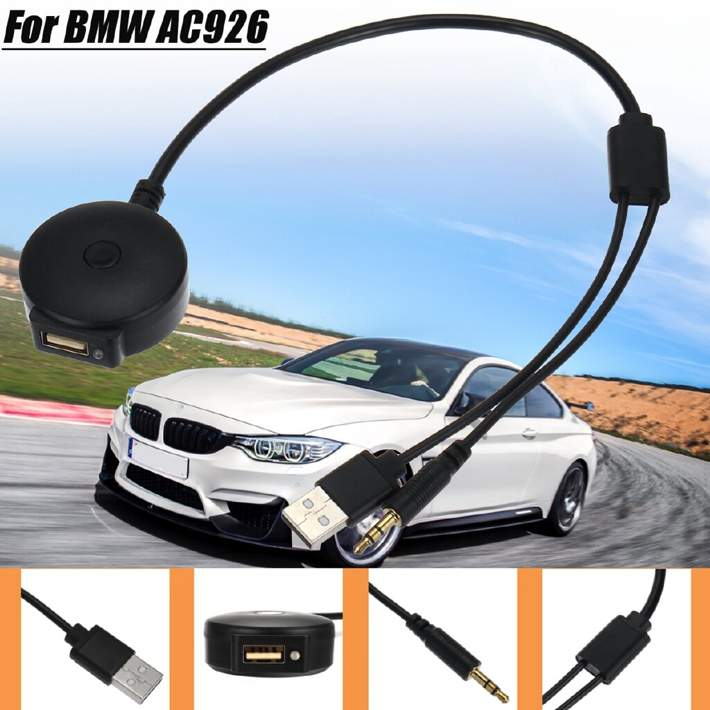 Car Radios - AUX to USB 3.5mm Cable BLUETOOTH Music Adapter For BMW MINI Cooper AC926 Car 5V - Electronics
