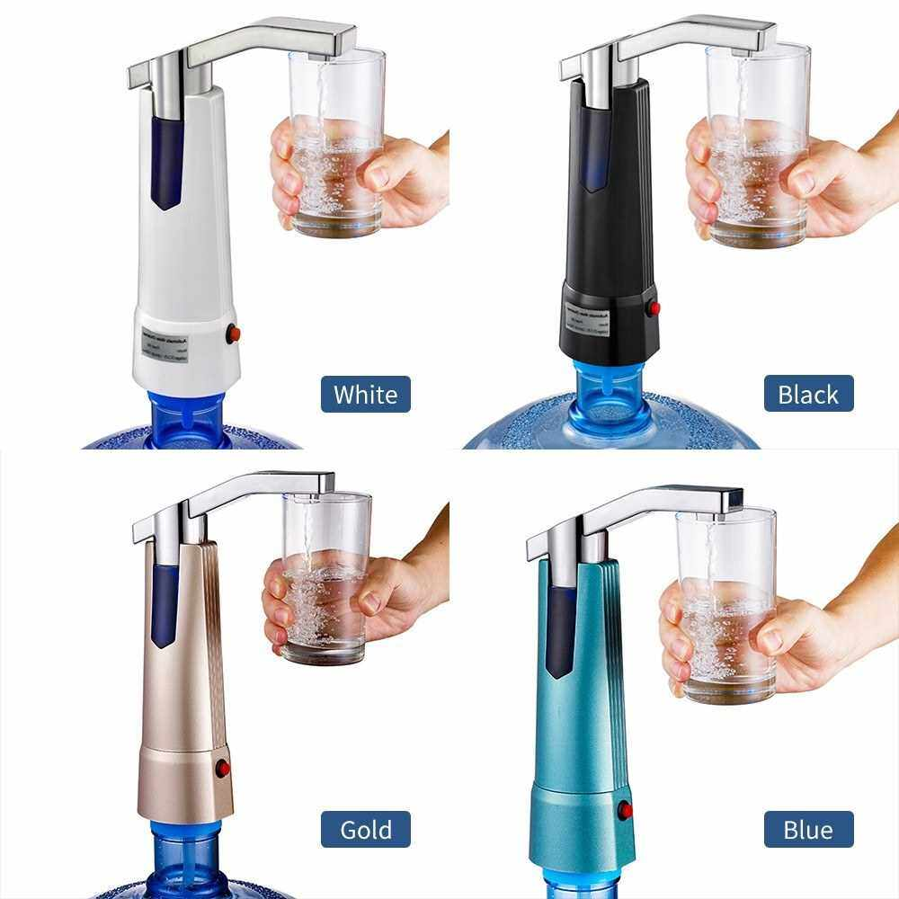 Water Bottle Dispenser Pump Wireless Automatic Electric Gallon Drinking Water Jug Pump Rechargeable Water Dispensing Pump for Home Office Kitchen Camping Outdoor (Gold)