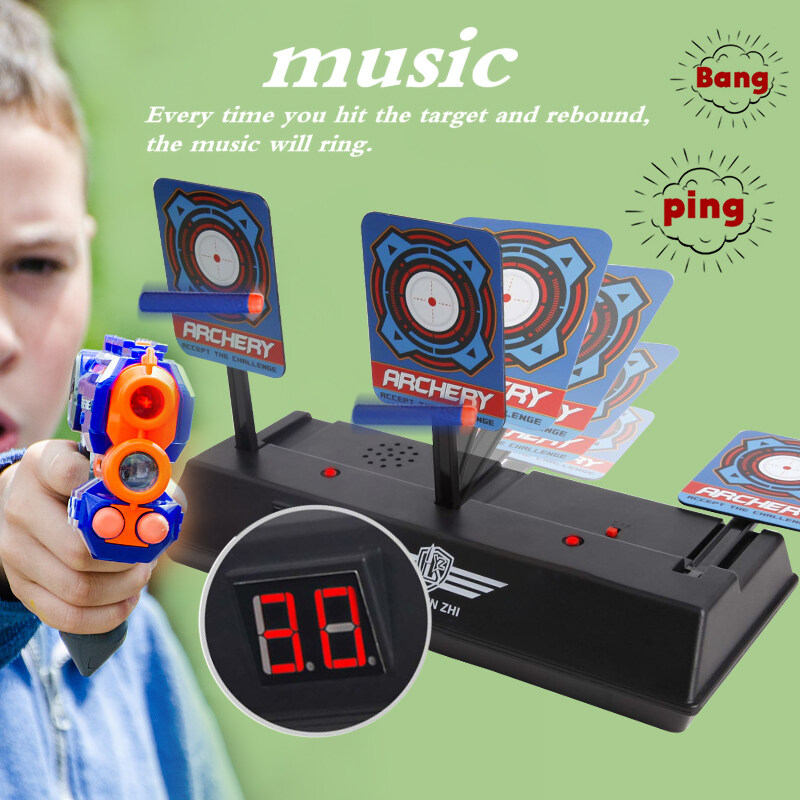 Children Electric Score Bullet Target Toy for Soft Bullets Blaster (Not Include Toy Gun or Bullets)