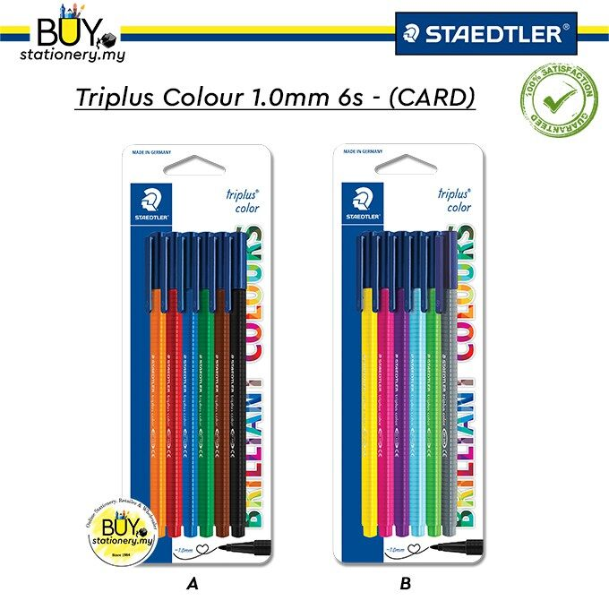 Staedtler Colour 1.0mm 6s - (CARD)