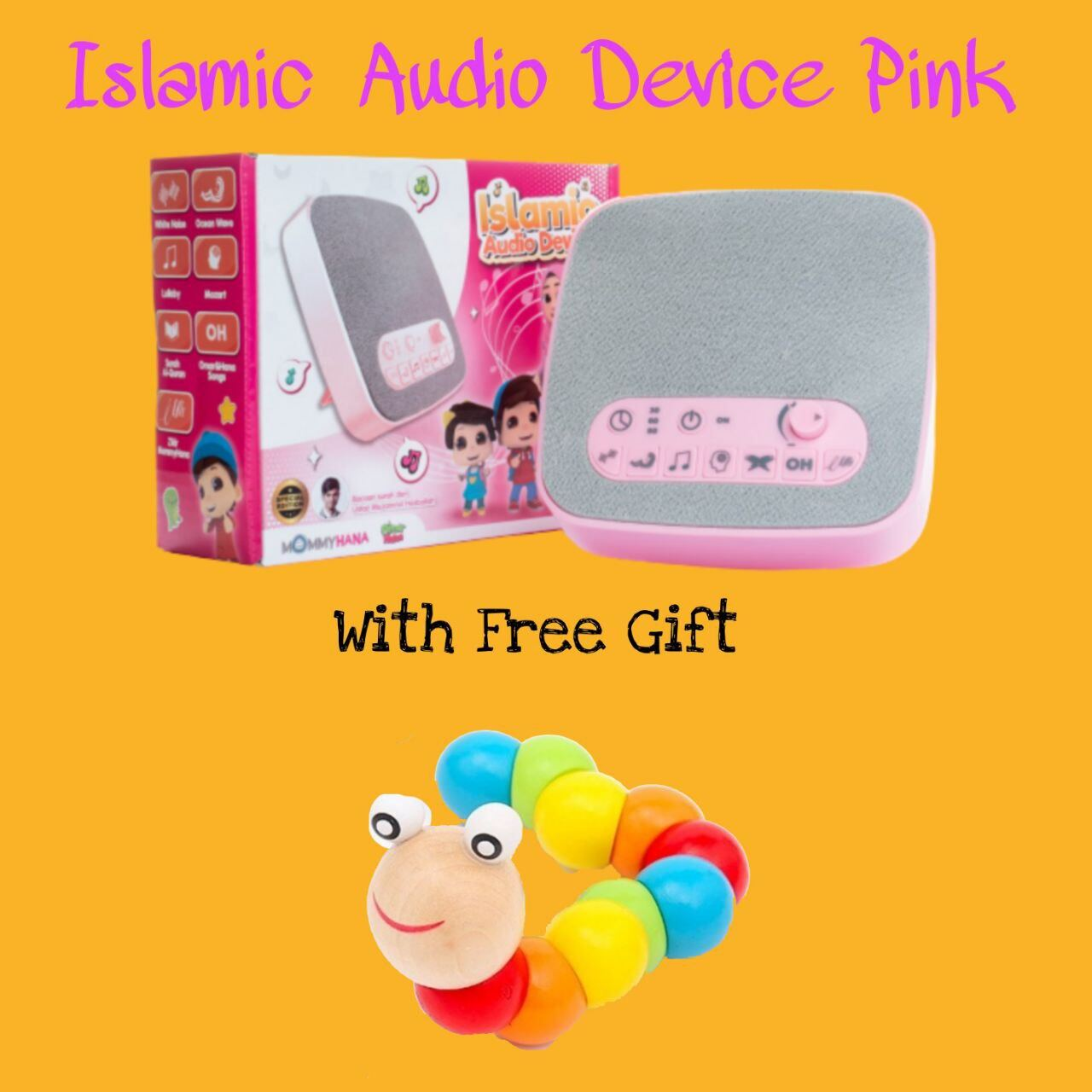 (READY STOCK) ISLAMIC AUDIO DEVICE MOMMYHANA X OMAR HANA (PINK) (4)