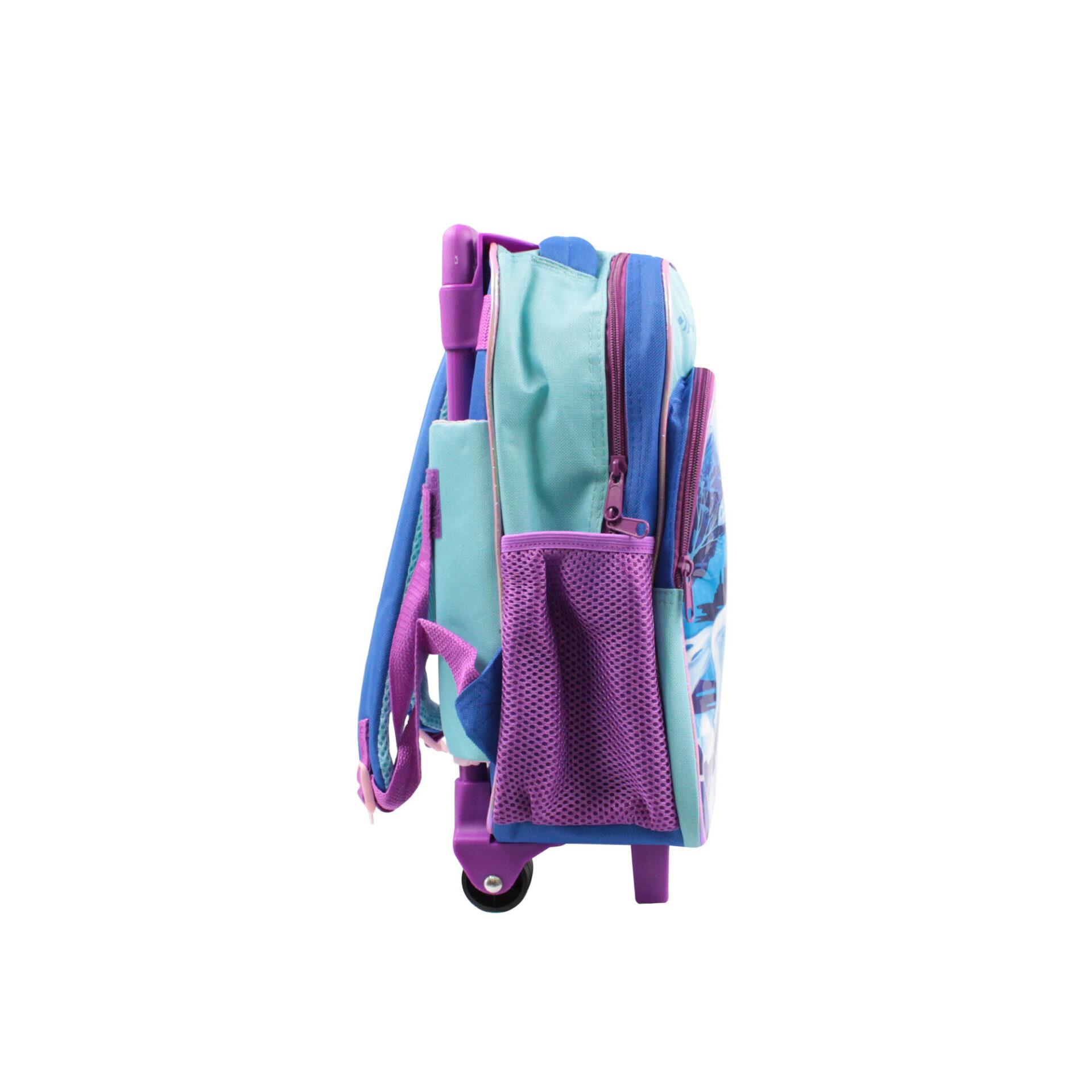 Disney Frozen 2 Princess Elsa With Water Horse Pre School Trolley Bag (Blue & Purple)