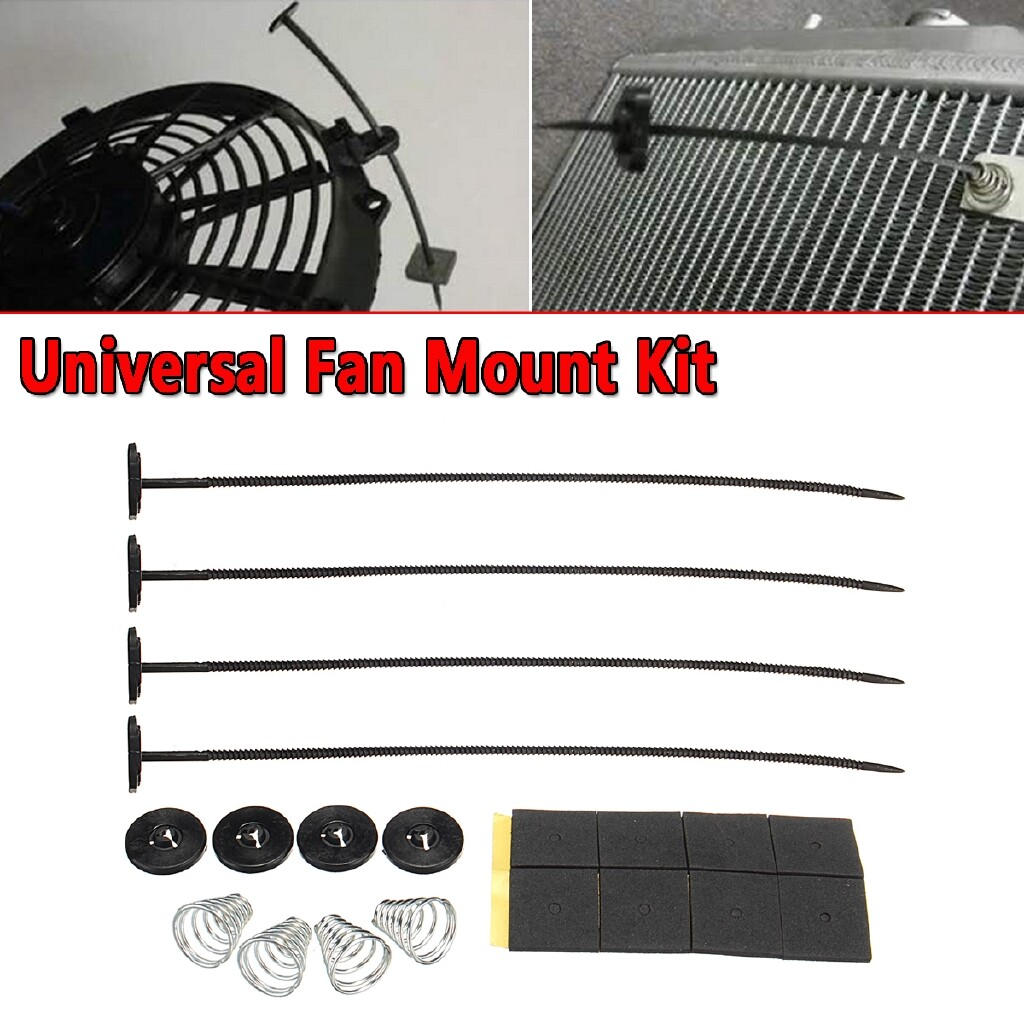 Automotive Tools & Equipment - Universal Electric Fan Mounting Tie Rod Kit Bracket For Chevy Ford Mopar SBC BBC - Car Replacement Parts