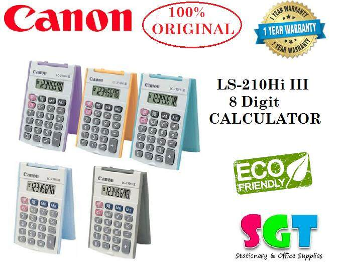 Canon Handheld Calculator LC-210HI III ( Random Color )