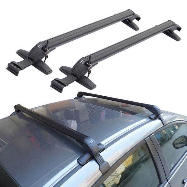 Universal Auto Portable Car Roof Rack /Cross Bar Roof Bar Rak Bumbung Rak Bagasi Kereta/ Roof Carrier Outdoor Top Holder Luggage Carrier Lenght (90 cm) x 2 pc - Fit vehicles with roof width 115 cm - 130 cm. eg. Myvi,Alza.