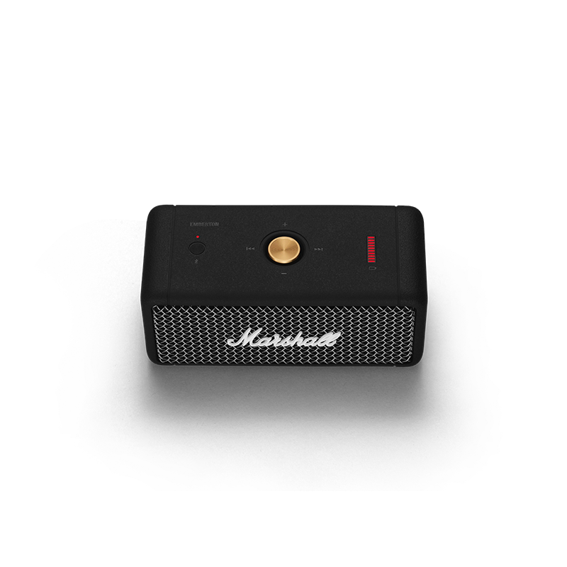 [PER-ORDER] Marshall Emberton Wireless Portable Bluetooth Speaker with IPX7 Water Resistance, 20+ Hours Play Time (ETA: 2021.01.18)