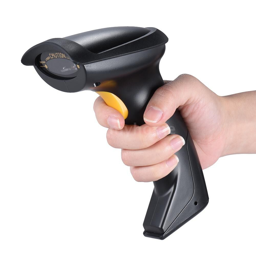 Printers & Projectors - Automatic/ Manual 2.4G WIRELESS Handheld 1D Barcode Scanner Reader Supports Reverse Type Bar Code - BLACK
