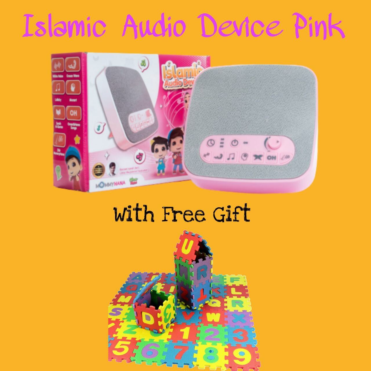 (READY STOCK) ISLAMIC AUDIO DEVICE MOMMYHANA X OMAR HANA (PINK) (5)