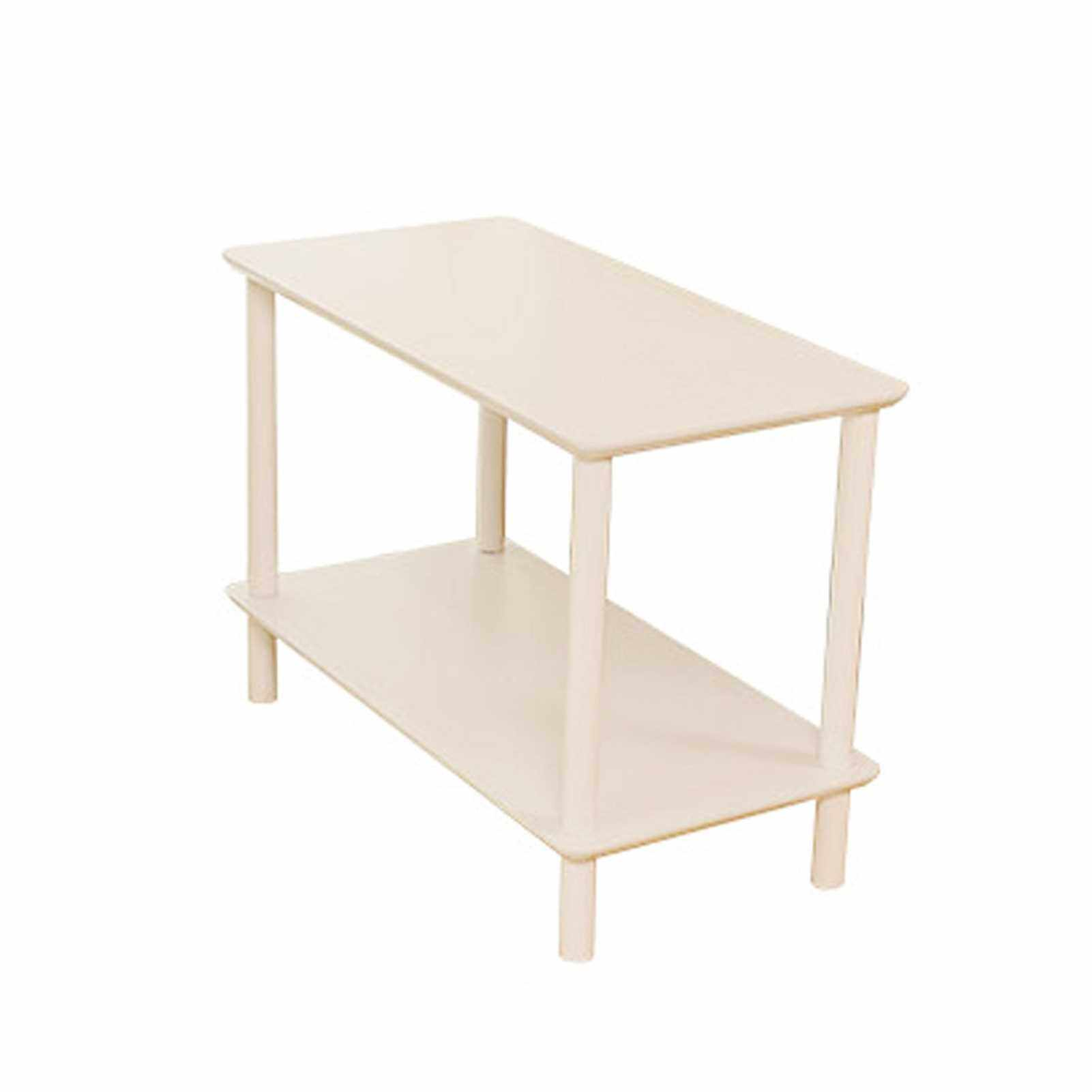 Best Selling 2-Tier End Table Coffee Side Table Nightstand with Open Design Wood Grain Pattern Home Decor Furniture for Living Room Bedroom Balcony 40*30*42cm (White)