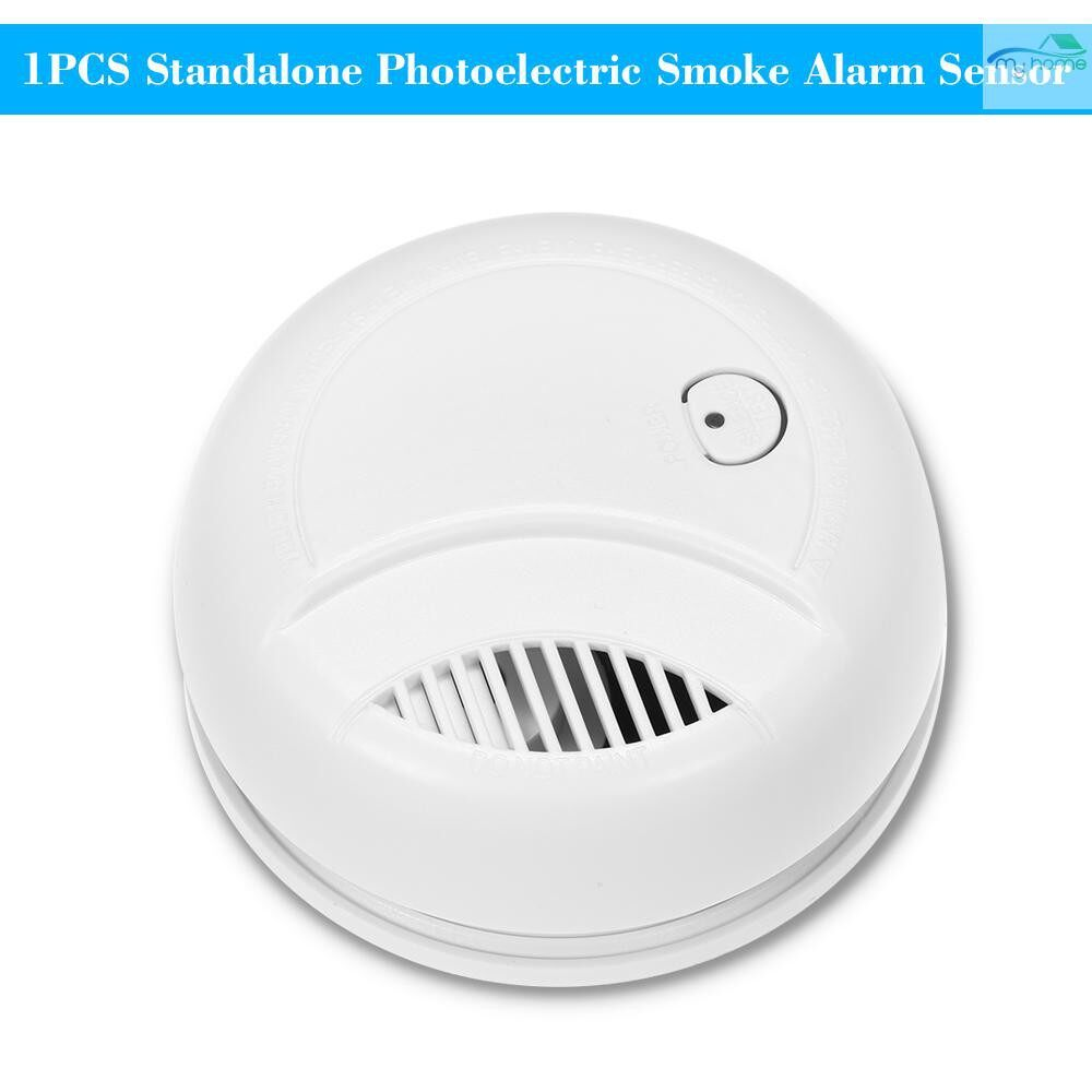 Sensors & Alarms - 1 PIECE(s) Standalone Photoelectric Smoke Alarm High Sensitive WIRELESS Alarm System Security Independent - WHITE-1 Piece