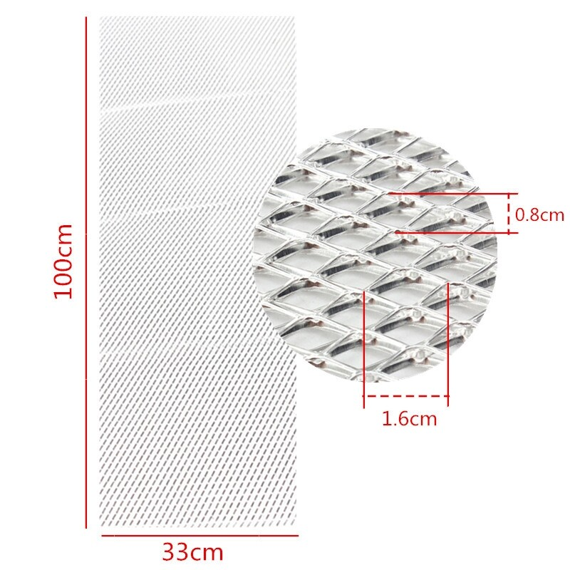 Automotive Tools & Equipment - 40 x13 Universal Aluminium Grille Mesh Vent Car Body Grill Silver Mesh 16x8mm - Car Replacement Parts