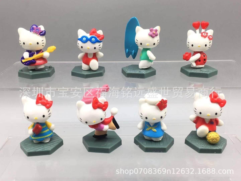 [Set of 8] Hello Kitty Series Figures Toys for boys