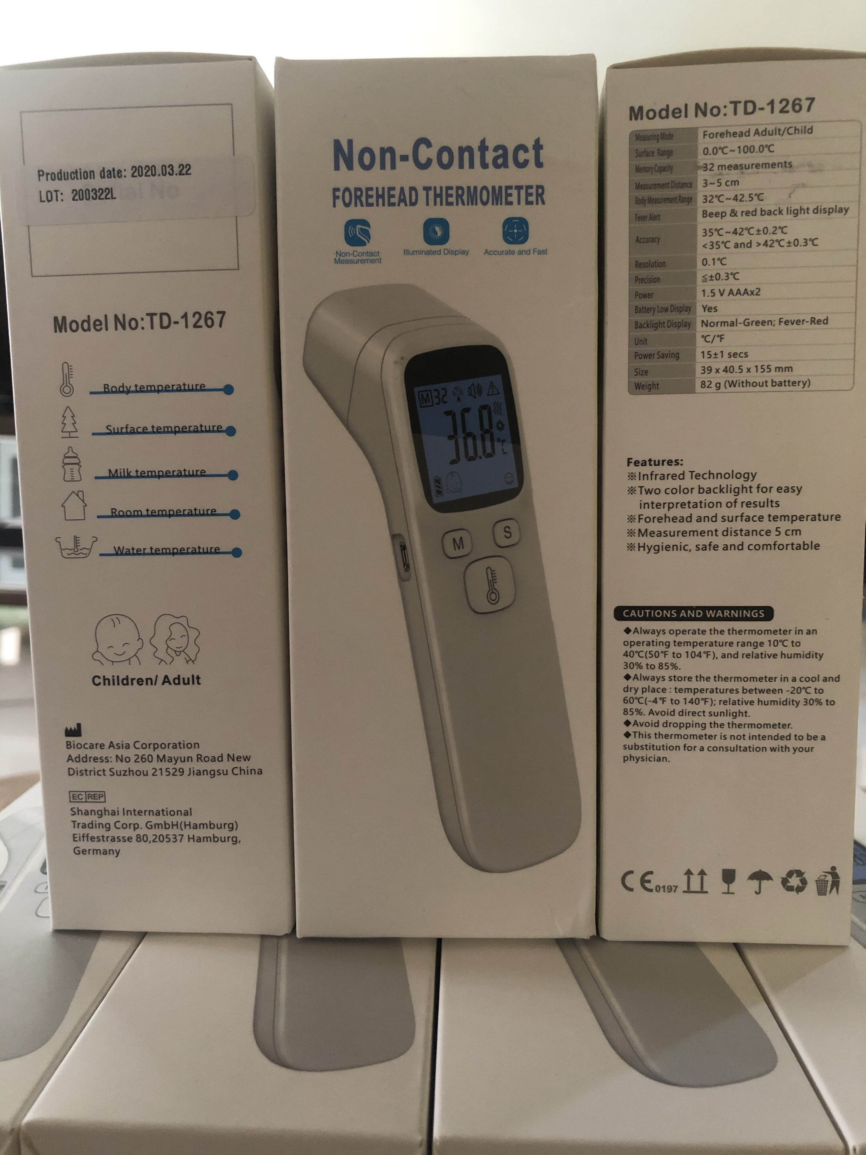 Forehead Thermometer for Adults & Children (Warranty 5 Years)