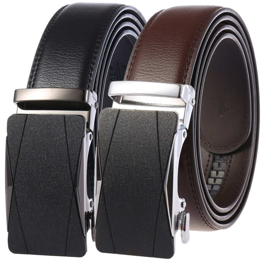 (NEW)[Msia Warehouse Direct] 100% Cowhide Leather Belt 2020 Korean Series 3D Men Automatic Buckle Belt Perfect Gift For Love One (can request box) Laser Zinc Alloy Suit Casual And Formal Wear Black Brown Belt Long Lasting Tali Pinggan Lelaki Kulit Halal