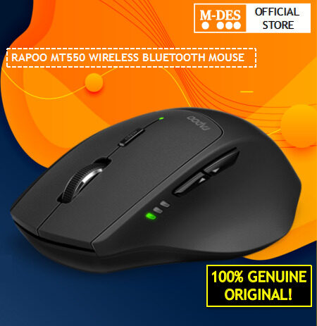 Rapoo MT550 Tri Mode 2.4G Wireless Optical Mouse [Smart switch Bluetooth Mouse 3.0 4.0, Connect up to 3 devices, Adjust DPI values to 1600 suitable High end User who have Multiple Computers and pads]