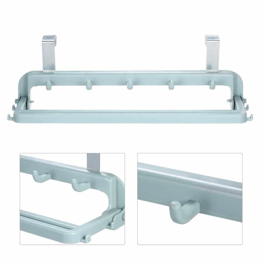 Folding Storage Rack with 9-hook Multifunctional Door Hook Space-saving Door Hanging Hook (Standard)