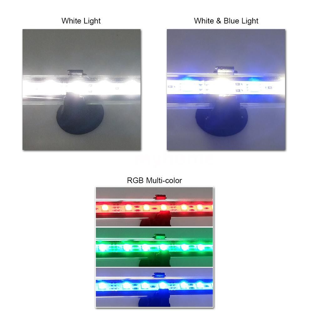 Lines - AC110-240V 5.4W 27 LED RGB Submersible Aquarium Lamp with Remote Control Support - Fishing