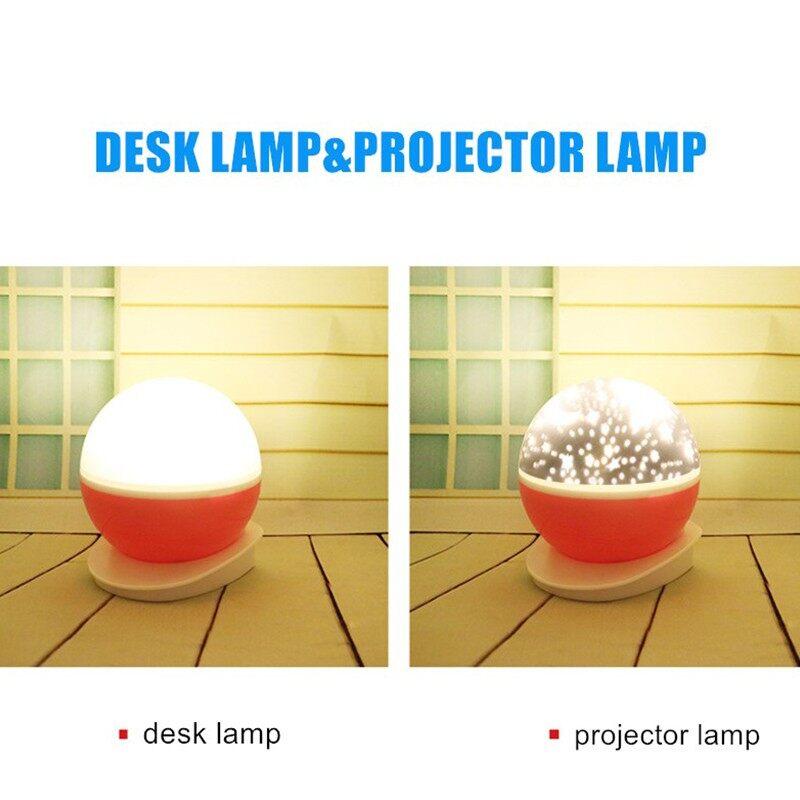 Rotating Night Light Projector Lamp Starry Sky Star Unicorn Kids Sleep Romantic Led - PINK / PURPLE / BLUE