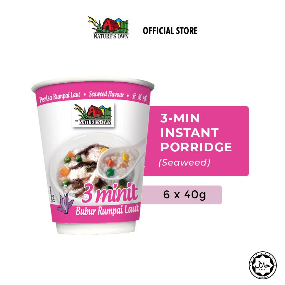 Nature's Own® 3 Minutes Porridge Bundle - Seaweed (6 x 40g)