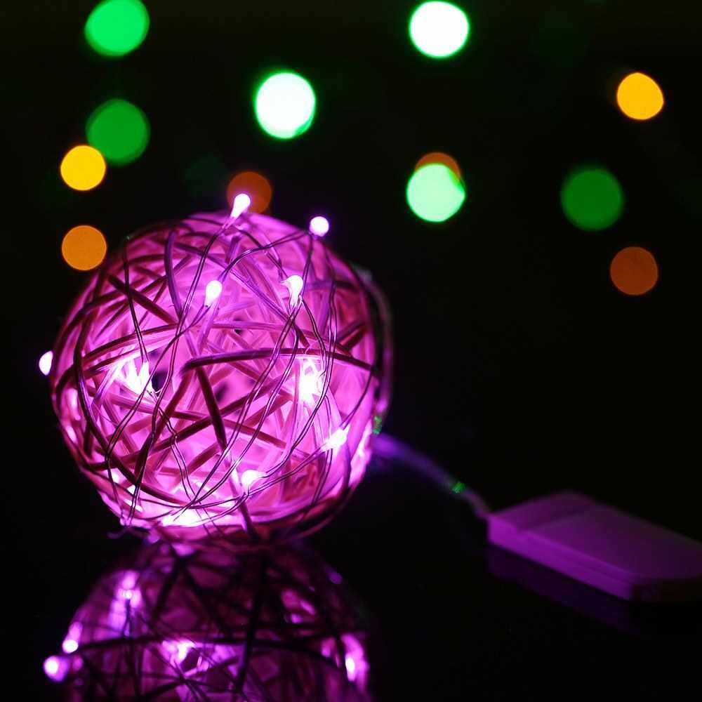 3M/9.8FT 30 LED Fairy Starry Copper Wire String Battery Operated Powered IP65 Water Resistance Extra Flexible Bendable Light Strip for Holiday Christmas Xmas Halloween Festival Decorations (Yellow)
