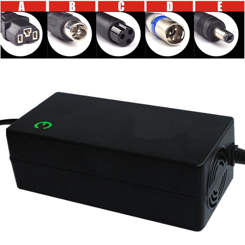 Chargers - Electric Bike 48V 2A Li-Ion Lithium Battery Charger Electric Motorcycle Scooter - AVIATION HEAD / DC HEAD / VIDEO HEAD / CANON HEAD / QUALITY HEAD