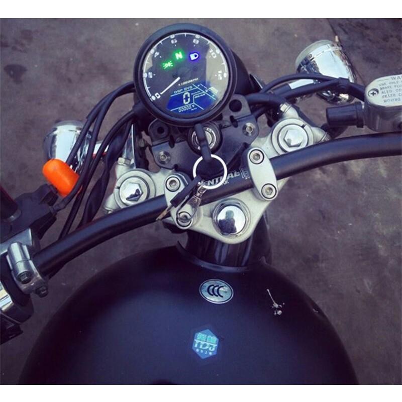 Moto Spare Parts - 0-12000 RPM LCD Digital Odometer Speedometer Motorbike Tachometer Auto Gauge - Motorcycles, & Accessories