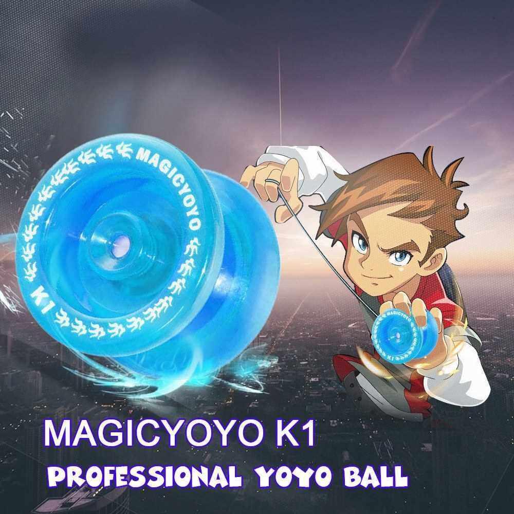 MAGICYOYO K1 Spin ABS Yoyo 8 Ball KK Bearing with Spinning String for Kids (Blue)