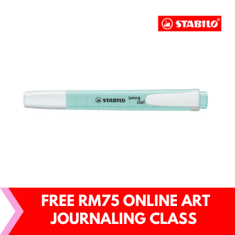 STABILO swing cool Pastel Highlighter Pen and Text Marker with Pocket Clip for Students - Hint Of Mint